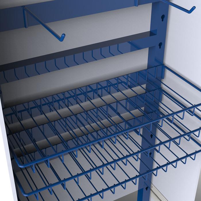 Blue Buffalo Wire Shelves