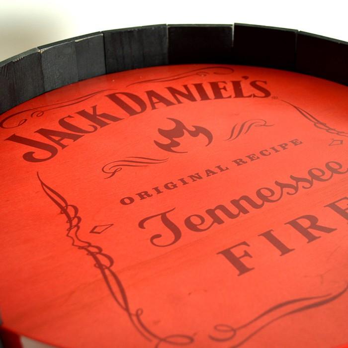 Jack Daniel's Fire Barrel Wood Display